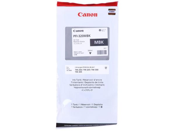 Картридж CANON PFI-320MBK матовый черный, 300 мл