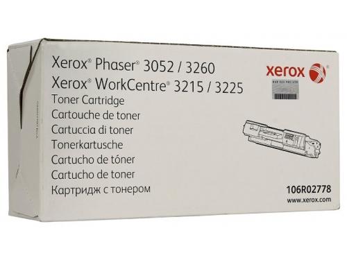 Картридж XEROX 106R02778 черный для Phaser 3052/3260 WC3215/3225