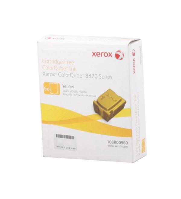Чернила XEROX 108R00960 желтые (6x2,88K) для Phaser 8870
