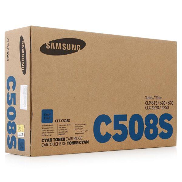 Картридж SAMSUNG CLT-C508S синий стандартный для CLP-620/670/CLX-6220/6250
