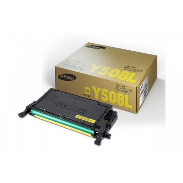 Картридж SAMSUNG CLT-Y508L желтый увеличенный для CLP-620/670/CLX-6220/6250