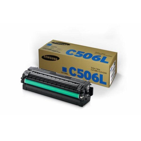 Картридж SAMSUNG CLT-C506L синий увеличенный для CLP-680/CLX-6260