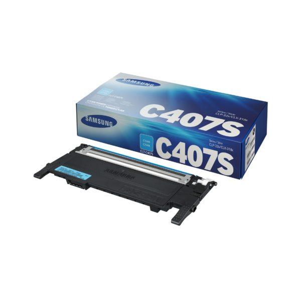 Картридж SAMSUNG CLT-C407S синий для CLP-320/325/CLX-3185
