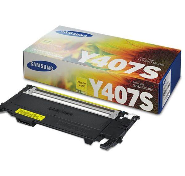 Картридж SAMSUNG CLT-Y407S желтый для CLP-320/325/CLX-3185