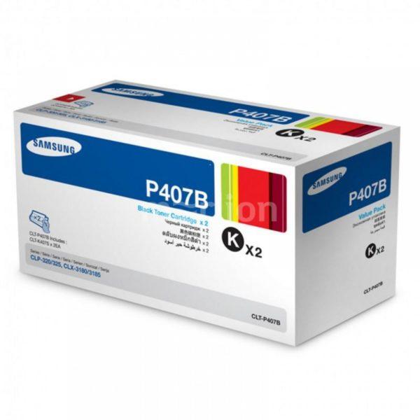 Картридж SAMSUNG CLT-P407B черный 2шт./упак. CLP-320/325/CLX-3185