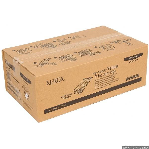 Принт-картридж XEROX 113R00725 желтый увеличенный для Phaser 6180