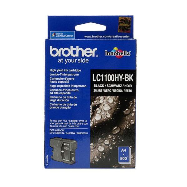 Картридж BROTHER LC1100HYBK черный увеличенный