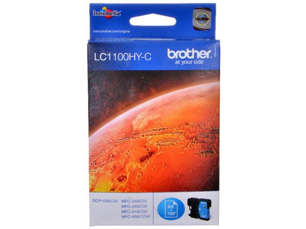 Картридж BROTHER LC1100HYC голубой увеличенный