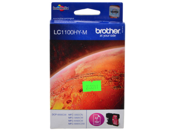 Картридж BROTHER LC1100HYM малиновый увеличенный