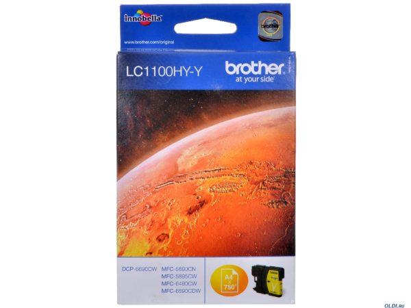 Картридж BROTHER LC1100HYY желтый увеличенный