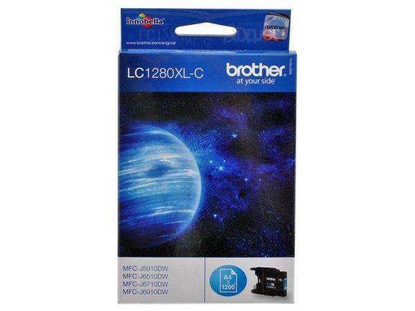 Картридж BROTHER LC1280XLC голубой увеличенный