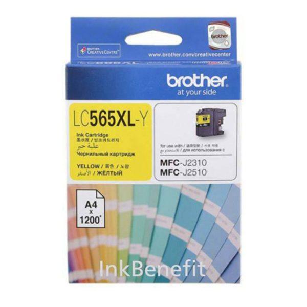 Картридж BROTHER LC565XLY желтый увеличенный