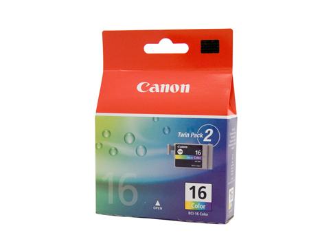 Картридж CANON BCI-16C, цветной, 2шт, для S-300