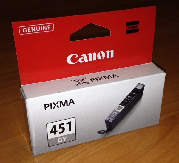 Картридж CANON CLI-451GY серый стандартный для PIXMA iP7240/MG6340
