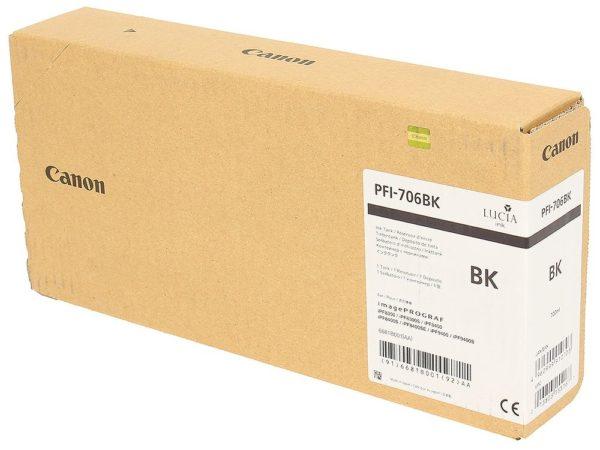 Картридж CANON PFI-706BK черный для imagePROGRAF 8300/8300S/8400/9400/9400S