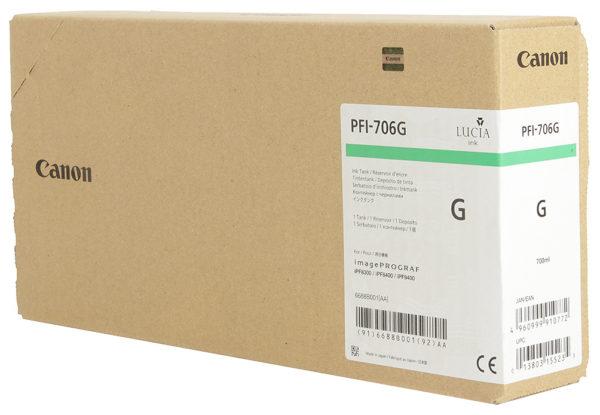 Картридж CANON PFI-706G зеленый для imagePROGRAF 8300/8300S/8400/9400/9400S
