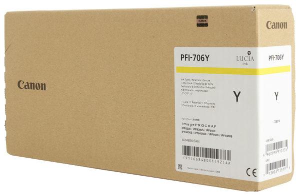 Картридж CANON PFI-706Y желтый для imagePROGRAF 8300/8300S/8400/9400/9400S