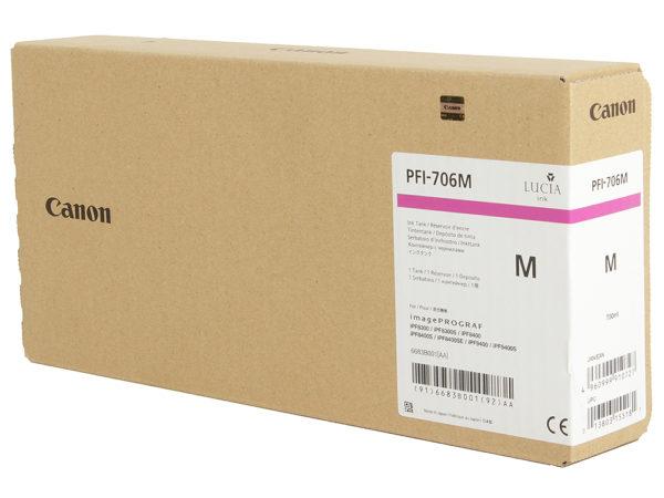 Картридж CANON PFI-706М малиновый для imagePROGRAF 8300/8300S/8400/9400/9400S