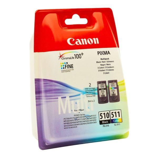 Картридж CANON PG-510+CL-511 набор черный+цветной для Pixma MP240/260/320/330