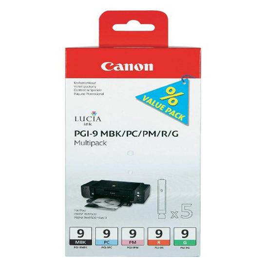 Картридж CANON PGI-9(MBK/PC/PM/R/G) MultiPack для Pixma Pro9500/Pro9500MarkII/iX7000/MX7600