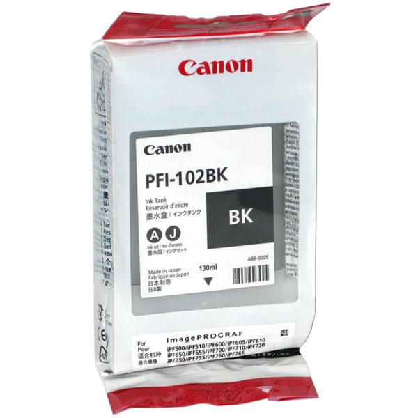 Картридж CANON PFI-102BK черный для Canon IPF500/600/700