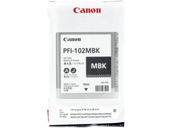 Картридж CANON PFI-102MBK матовый-черный для Canon IPF500/600/700