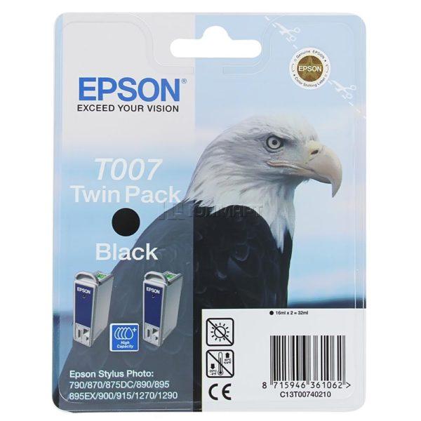 Картридж EPSON T007402 черный двойная упаковка для ST790/870/890/1270/1290
