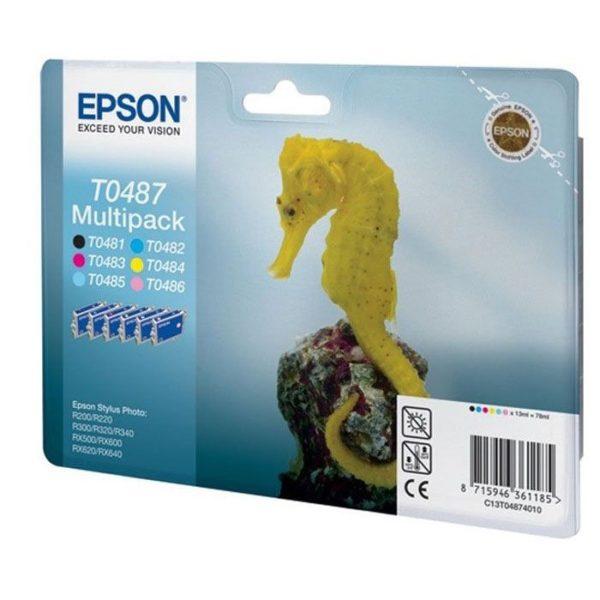 Картридж EPSON T04874010 мульти-упаковка для R200/300/RX500/600/620/640