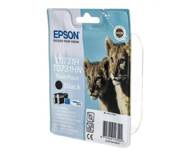 Картридж EPSON T0731H/HN черный двойная упаковка для ST C110/CX7300/8300/9300