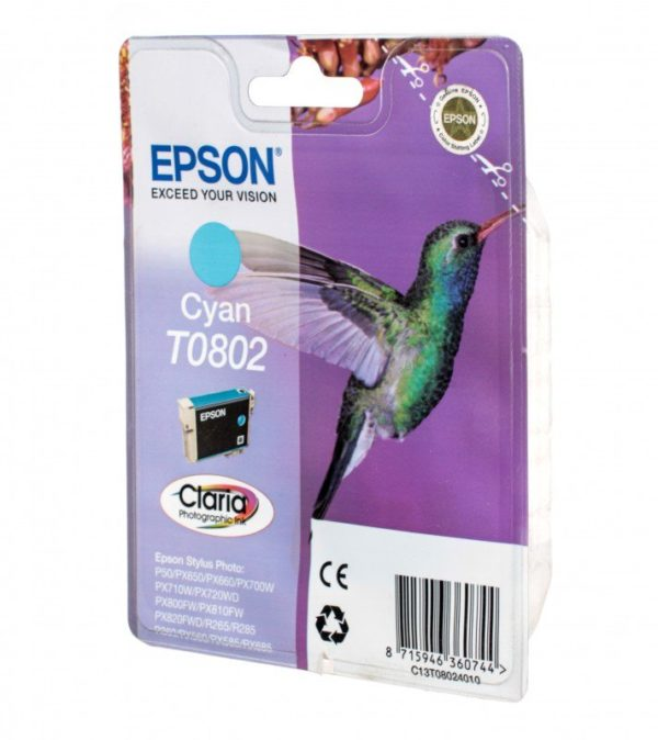 Картридж EPSON T08024010 голубой для Stylus Photo P50/PX660