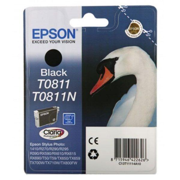 Картридж EPSON T08114A черный увеличенный для ST R270/R290/RX590