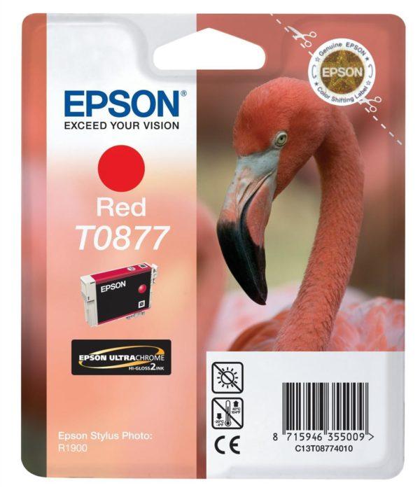 Картридж EPSON T08774010 красный для ST R1900