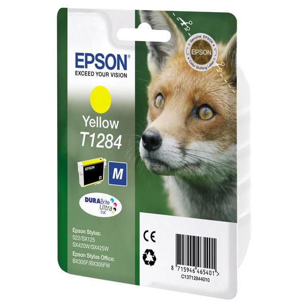 Картридж EPSON T12844010 желтый для S22/SX125