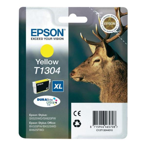 Картридж EPSON T13044010 желтый для B42WD/SX525WD//BX625WFD/BX320FW