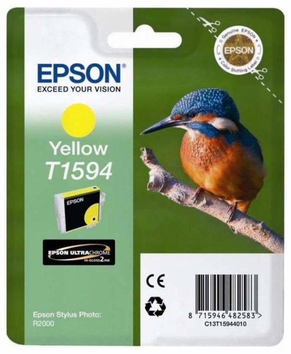 Картридж EPSON T1594 желтый для Stylus Photo R2000