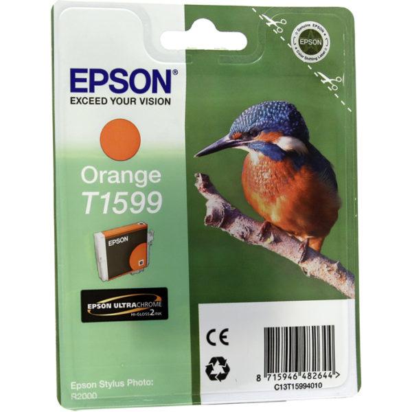 Картридж EPSON T1599 оранжевый для Stylus Photo R2000