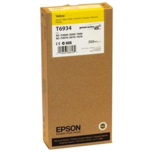 Картридж EPSON T693400 желтый для SC-T3000/T5000/T7000 UltraChrome XD