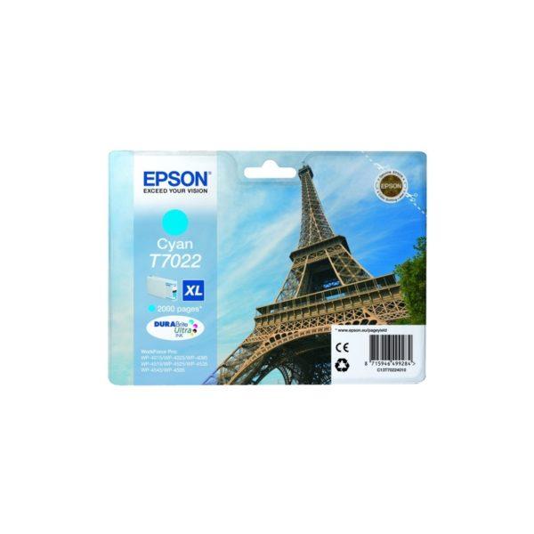 Картридж EPSON T70224010 голубой для WP4000/WP4500