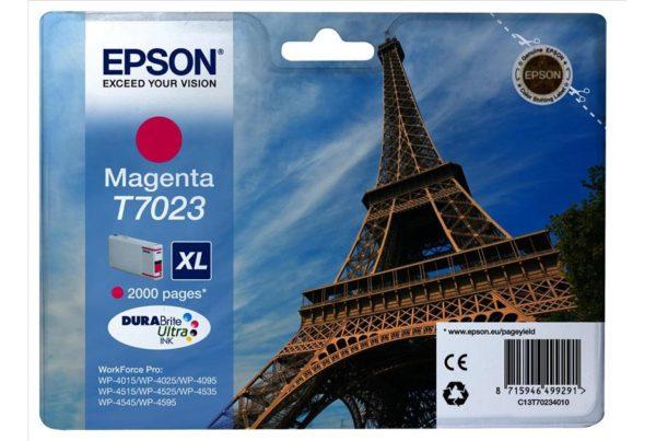 Картридж EPSON T70234010 малиновый для WP4000/WP4500