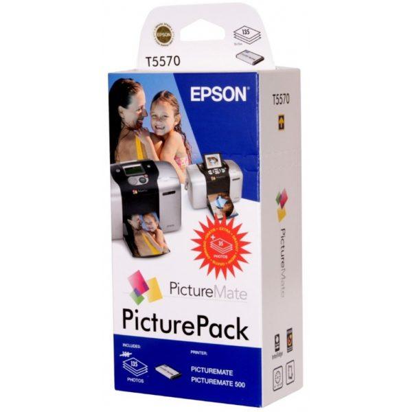 Картридж EPSON Т557040BD Набор фотопечати для принтера Epson PictureMate: Фотокартридж 6-цветный C л