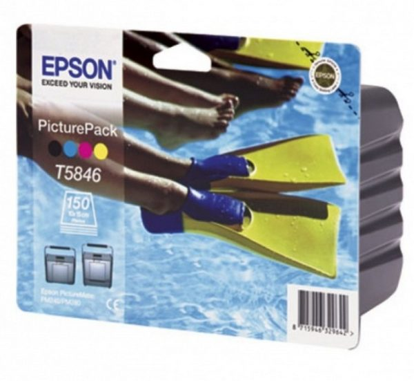 Картридж EPSON Т584640 Набор фотопечати для принтера Epson PictureMate R240/280 6-цветный C листов б