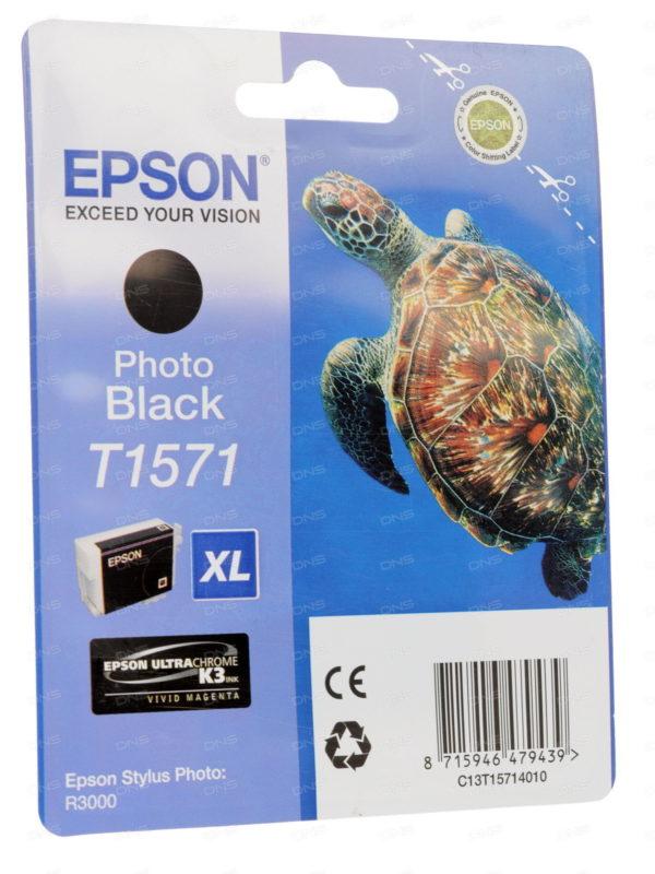 Картридж EPSON T15714010 фото-черный для Stylus Photo R3000