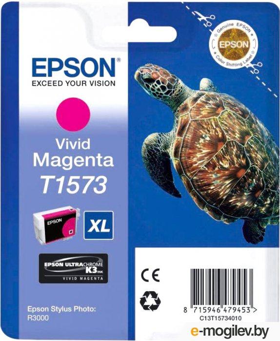 Картридж EPSON T15734010 малиновый для Stylus Photo R3000