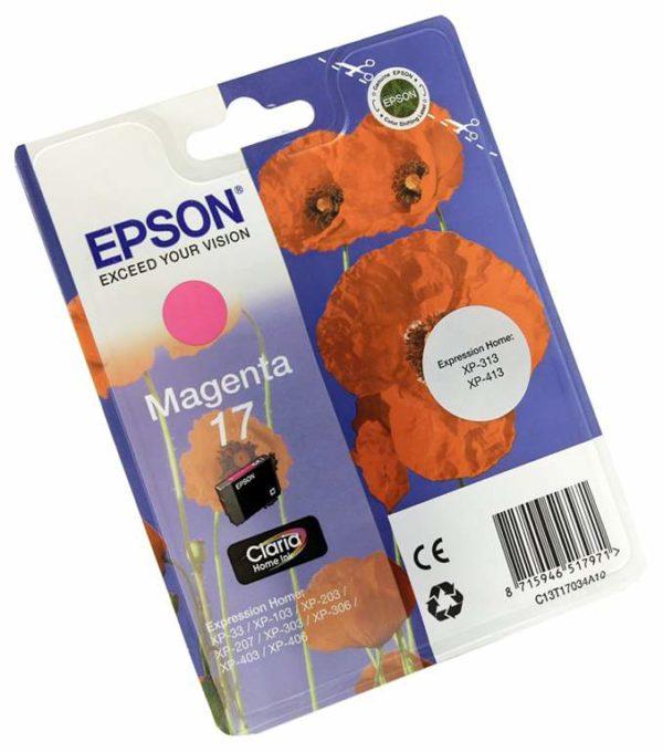 Картридж EPSON T1703 малиновый для XP-33/103/203/207/303/306/406