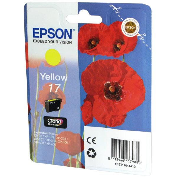 Картридж EPSON T1704 желтый для XP-33/103/203/207/303/306/406