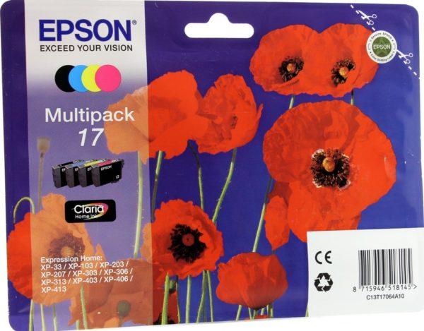 Картридж EPSON T1706 мульти-упаковка для XP-33/103/203/207/303/306/406