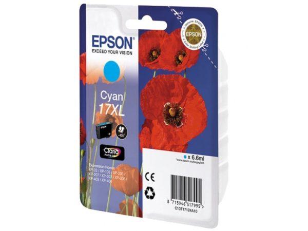 Картридж EPSON T1712 синий увеличенный для XP-33/103/203/207/303/306/406