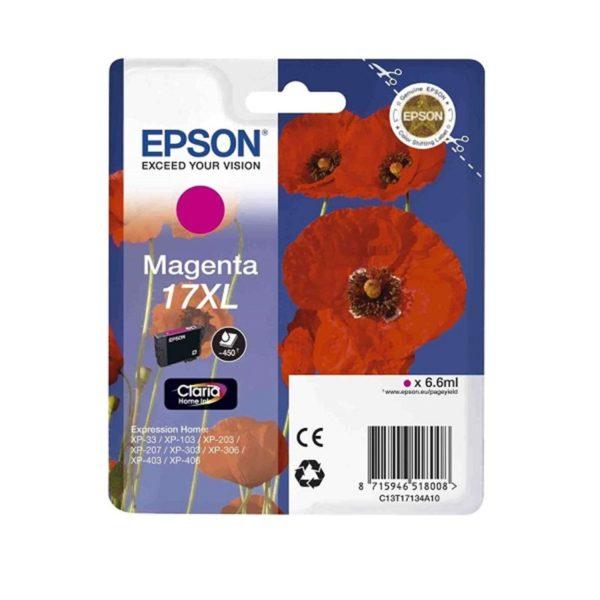 Картридж EPSON T1713 малиновый увеличенный для XP-33/103/203/207/303/306/406