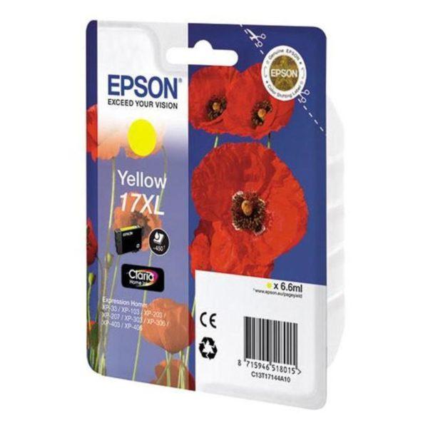 Картридж EPSON T1714 желтый увеличенный для XP-33/103/203/207/303/306/406