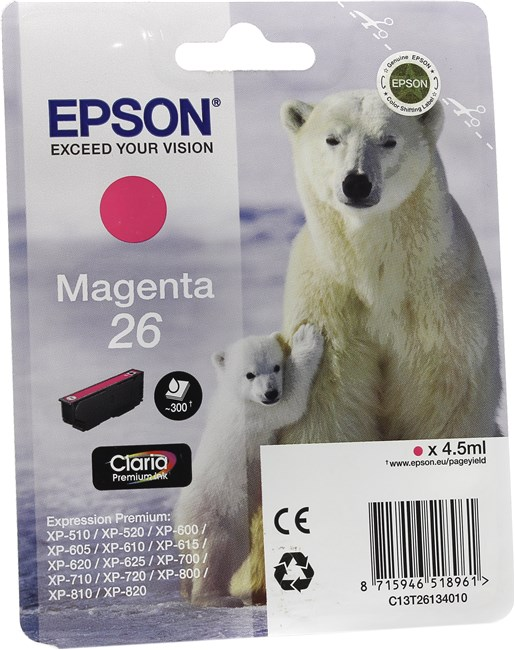 Картридж EPSON T26134010 малиновый стандартный для XP-600/700/800